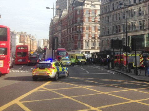 Cyclist killed after crash with lorry in central London
