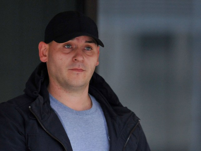 MEN SYNDICATIONnManchester Crown Court George Roberts, aged 35 was convicted of burglary and received a 12 month suspended jail sentence for burglary in Moston, Manchester, after he wrote his name in his own blood.