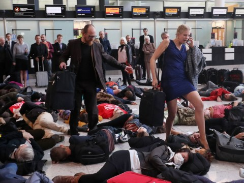 Loads of people just pretended to die at Heathrow airport