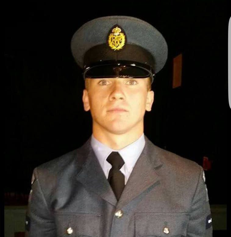 Corrie McKeague an RAF serviceman who is missing. See Masons copy MNRAF: Police searching for an RAF serviceman who disappeared in the early hours of Saturday have released CCTV footage taken moments before he went missing. The footage shows Corrie McKeague sleeping briefly in a doorway before he gets up and walks away. This was the last time the 23-year-old was seen after a night out in Bury St Edmunds, Suffolk at around 3.20am on Saturday.