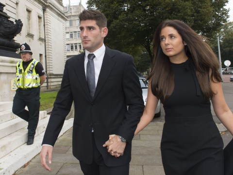 Ched Evans walks into rape trial hand-in-hand with fiancée