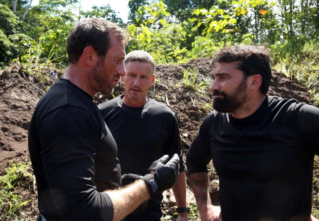 Undated handout photo issued by Channel 4 of (left to right) Jason 'Foxy' Fox, Mark 'Billy' Billingham and Anthony Middleton. Billingham, a former bodyguard of Brad Pitt and Angelina Jolie, is to appear in the Channel 4 series SAS: Who Dares Wins. PRESS ASSOCIATION Photo. Issue date: Tuesday October 4, 2016. See PA story SHOWBIZ SAS. Photo credit should read: Vance Jacobs/Channel 4/PA Wire NOTE TO EDITORS: This handout photo may only be used in for editorial reporting purposes for the contemporaneous illustration of events, things or the people in the image or facts mentioned in the caption. Reuse of the picture may require further permission from the copyright holder.