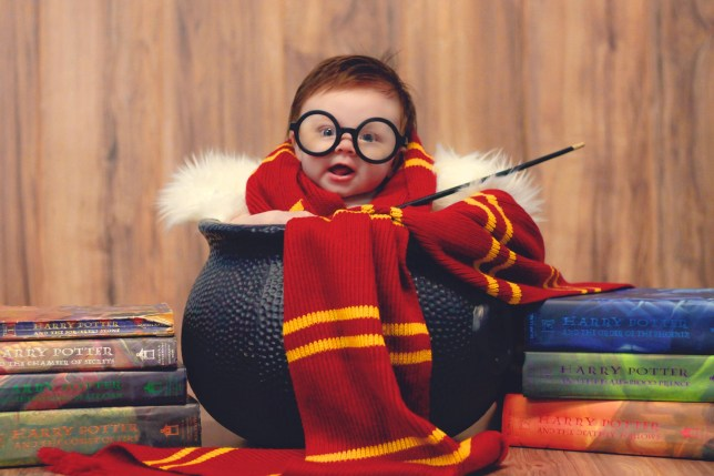 "PIC FROM FORTITUDE PRESS (PIC SHOWS: BABY LORELAI GRACE GLOVER AS HARRY POTTER) A DIE hard Harry Potter fan has created a magical photoshoot using her baby daughter. Photographer Kayla Glover, aged 29, of Illinois, put her vision of all things Harry Potter to the test after the birth of her daughter Lorelai Grace. The adorable youngster, who is now four-months-old, can be seen in one of the series of spellbinding photos- placed in a cauldron and wrapped in a Gryffindor scarf while adorned in the well known Harry Potter style glasses, complete with wand and wearing an expression almost as though she had just been told ""You're a wizard Lorelai""!"