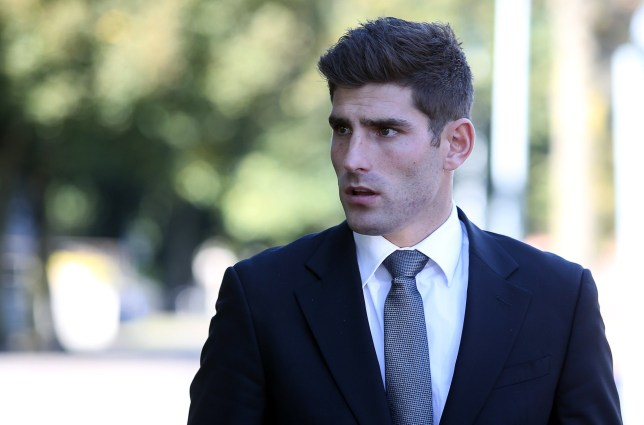 10.10.16 - Picture shows Ched Evans leaving Cardiff Crown Court at lunch time on the first day of the second week of his retrial for rape.