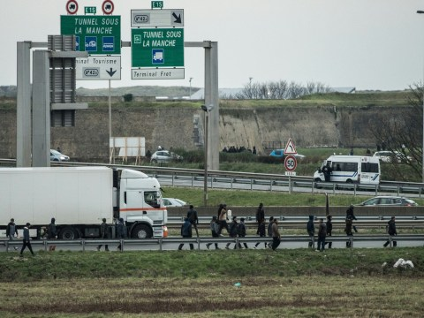 British driver 'knocks down and kills migrant blocking road in Calais'