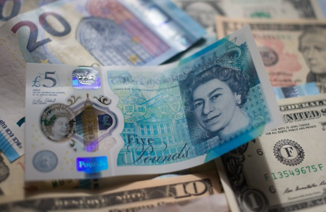 BATH, ENGLAND - OCTOBER 10: In this photo illustration, Euro, Dollar and pound sterling notes are seen on October 10, 2016 in Bath, England. Since the UK voted to leave the European Union in June, the UK's currency has been fluctuating in value against other currencies, including the Euro and the dollar, and looks likely to remain doing so while the uncertainty remains surrounding the terms of the UK's departure from the EU. (Photo by Matt Cardy/Getty Images)