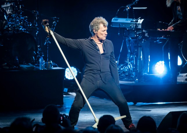Jon Bon Jovi live on stage as Bon Jovi perform their new album 'This House Is Not For Sale' at the London Palladium. PRESS ASSOCIATION Photo. Picture date: Monday October 10, 2016. Photo credit should read: PA Wire