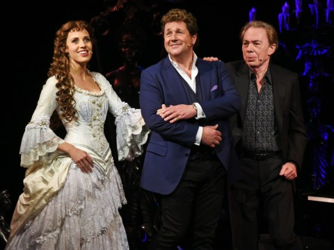 Andrew Lloyd Webber and Michael Crawford surprise audience with impromptu Phantom appearance