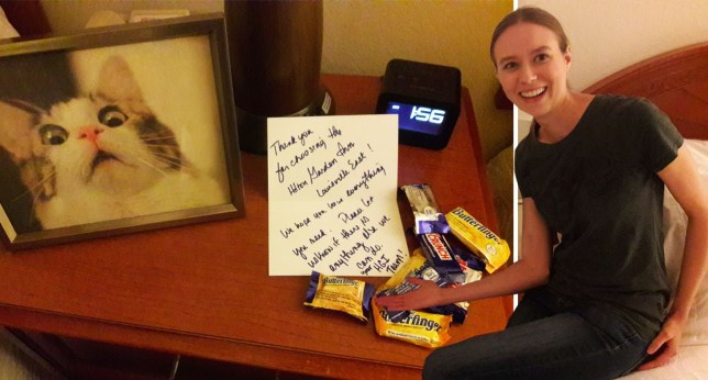 Hilton Gardens 5.jpg This hotel responded to guest's request of cats and chocolate perfectly https://imgur.com/gallery/dcLjF