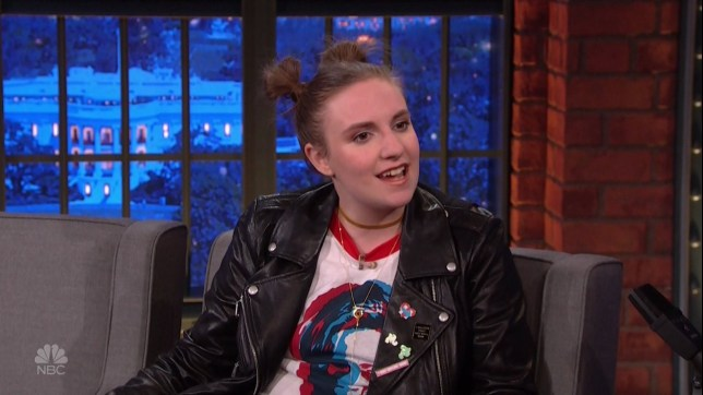 Lena Dunham during an appearance on NBC's 'Late Night with Seth Meyers.' Lena promotes the show 'Girls.' Featuring: Lena Dunham Where: United States When: 12 Oct 2016 Credit: Supplied by WENN.com **WENN does not claim any ownership including but not limited to Copyright, License in attached material. Fees charged by WENN are for WENN's services only, do not, nor are they intended to, convey to the user any ownership of Copyright, License in material. By publishing this material you expressly agree to indemnify, to hold WENN, its directors, shareholders, employees harmless from any loss, claims, damages, demands, expenses (including legal fees), any causes of action, allegation against WENN arising out of, connected in any way with publication of the material.**