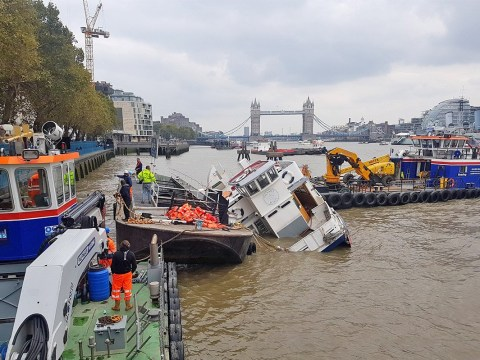 Rescue operation underway as massive party boat sinks in the Thames