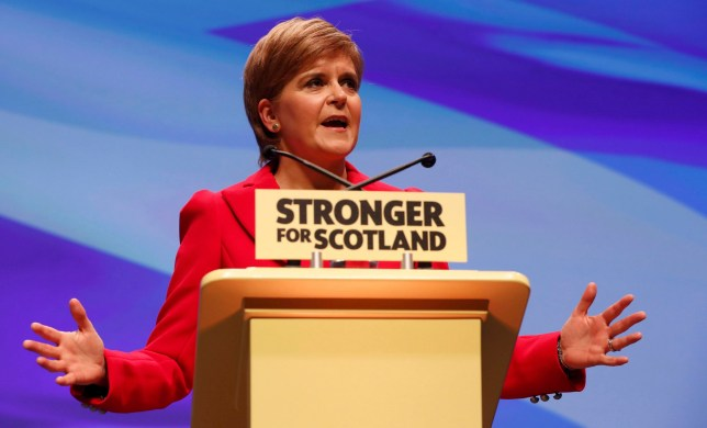 Scotland's First Minister and leader of the Scottish National Party (SNP), Nicola Sturgeon, addresses the party's annual conference in Glasgow, Scotland October 15, 2016. REUTERS/Russell Cheyne