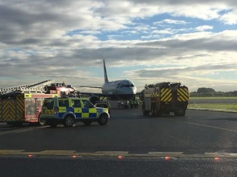 Manchester Airport runway closed after plane's wheel breaks on landing