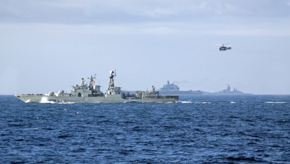 Russians observed conducting Live Fire exercises in the Norwegian Sea - now they are heading south towards Syria. Credit: Norwegian Navy