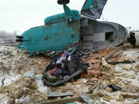 Nineteen people killed in Russian helicopter crash
