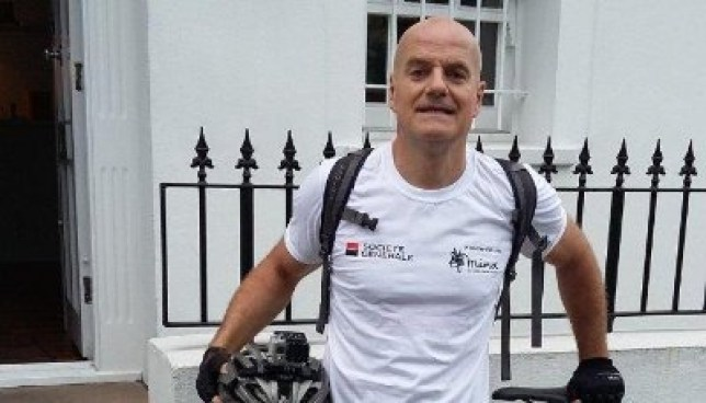 """LinkedIn profile picture taken without permission of Tanguy De Carne. See National story NNBANKER; A wealthy investment banker led police on a 20 minute chase through the City of London after cutting up a patrol car - on his bicycle. Tanguy Marie De Carne, 53, who lives in a £2.7 million house, jumped red traffic lights and rode on busy pavements through the City pursued by police during the 20 minute drama. French national De Carne was told by magisttrates he had done nothing to enchance the reputation of cyclists """"held in low self esteem"""" when he appeared in court today (WED) to admit charges of dangerous cycling and failing to stop for police. De Carne, the global head of high yield capital markets at SG Corporate & Investment Banking, pleaded guilty to dangerous cycling and failing to stop for police at City of London Magistrates' Court today. He ignored repeated police orders to stop during the manic chase on March 21 this year, the court was told. Credit: SWNS"""