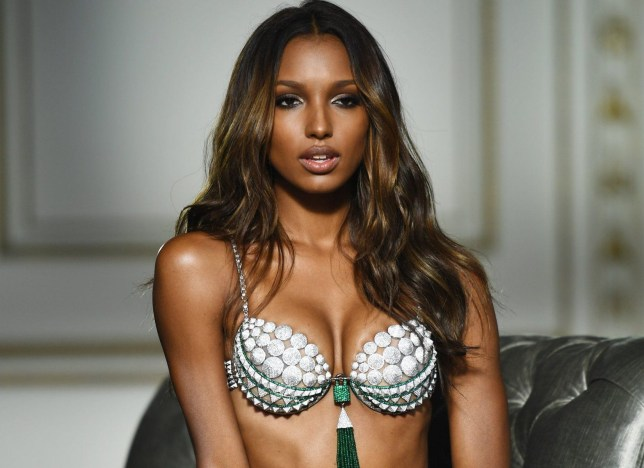 GLADSTONE, NJ - OCTOBER 08: Model Jasmine Tookes poses in the Victoria's Secret Fantasy Bra on October 8, 2016 in Gladstone, New Jersey. (Photo by Dimitrios Kambouris/Getty Images for Victoria's Secret)