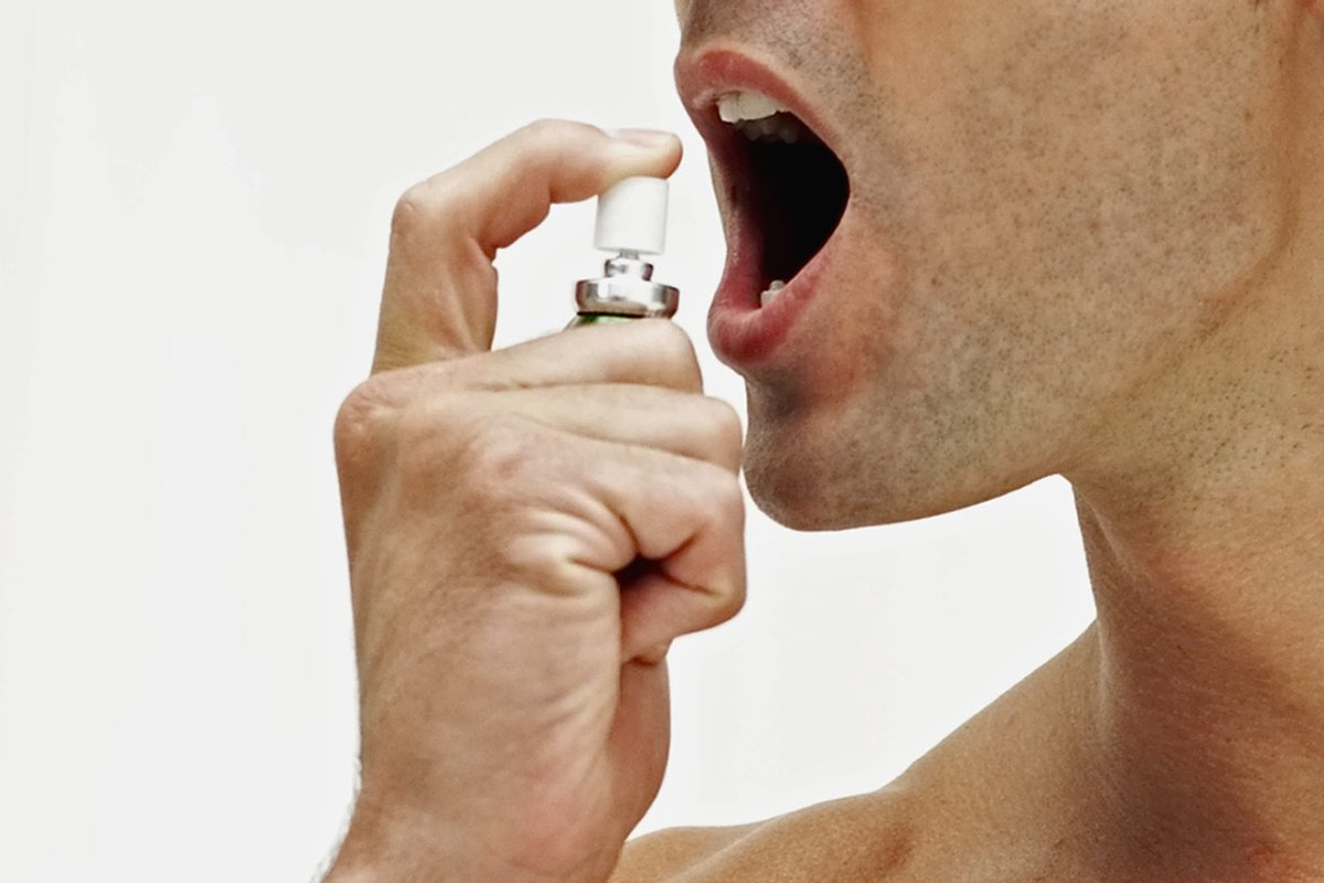 Scientists create Viagra mouth spray that perks up blokes in seconds  Stockbyte/Getty Images      Young man using a spray mouth freshener