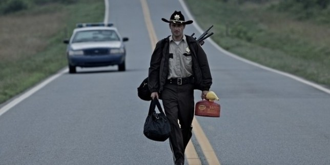 Andrew Lincoln plays Rick Grimes on The Walking Dead (Picture: FOX)