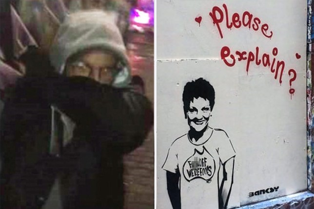 Someone claims to have caught Banksy in the act on camera