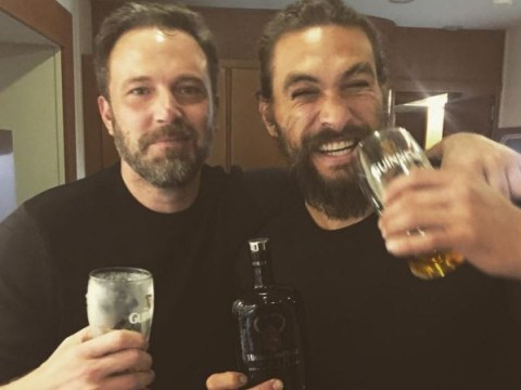 Jason Momoa and Ben Affleck are hitting the beers as Justice League wraps
