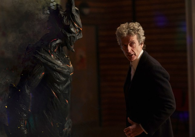 WARNING: Embargoed for publication until 00:00:01 on 18/10/2016 - Programme Name: Class - TX: n/a - Episode: Class - Ep1 (No. 1) - Picture Shows: (L-R) Corikinus (PAUL MARK DAVIES), The Doctor (PETER CAPALDI) - (C) BBC - Photographer: Simon Ridgeway