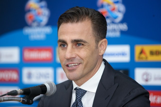 SEONGNAM, SOUTH KOREA - MAY 20: (CHINA OUT) Fabio Cannavaro, head coach of Guangzhou Evergrande, speaks during a press conference after the AFC Champions League Round of 16 match between Seongnam FC and Guangzhou Evergrande at Tancheon Sports Complex on May 20, 2015 in Seongnam, South Korea. (Photo by VCG/VCG via Getty Images)