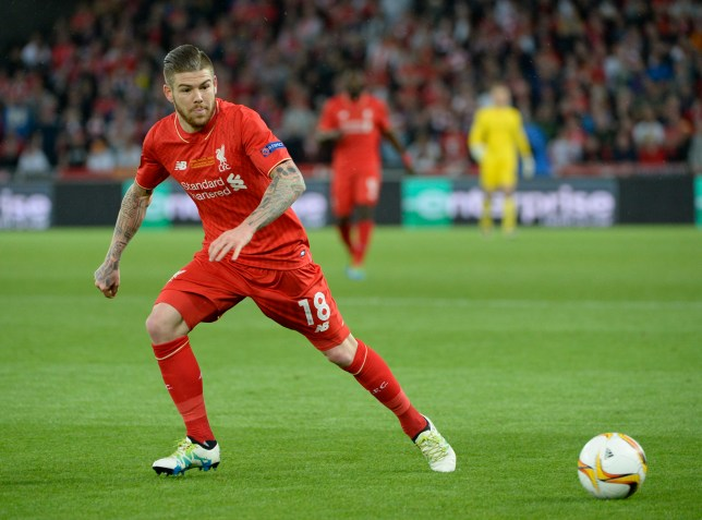 BASEL, SWITZERLAND - MAY 18: Alberto Moreno in action for Liverpool during the UEFA Europa League Final match between Liverpool and Sevilla at St. Jakob-Park on May 18, 2016 in Basel, Basel-Stadt. Sevilla won the match 3-1. (Photo by Bob Thomas/Popperfoto/Getty Images).