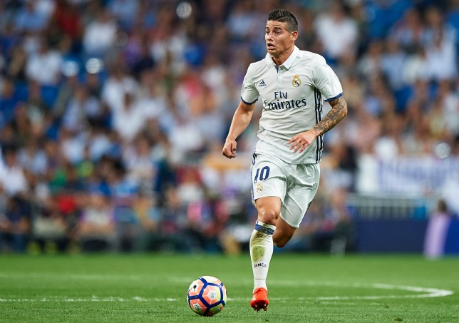 MADRID, SPAIN - SEPTEMBER 21: James Rodriguez of Real Madrid runs with the ball during the La Liga match between Real Madrid CF and Villarreal CF at Estadio Santiago Bernabeu on September 21, 2016 in Madrid, Spain. (Photo by fotopress/Getty Images)