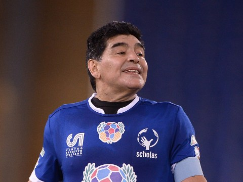 Diego Maradona FIGHTS with Juan Veron – during a charity game