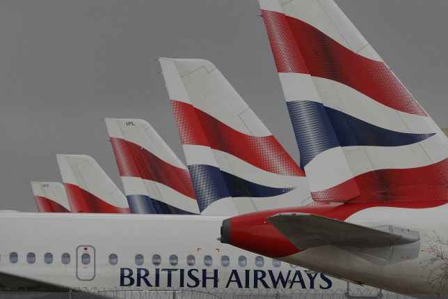 pic - getty LONDON, ENGLAND - MARCH 27: British Airways aircraft are parked on an apron at Heathrow airport during the first day of a strike by cabin crew on March 27, 2010 in London, England. Cabin crew are holding the second four day strike over pay and conditions. (Photo by Peter Macdiarmid/Getty Images)