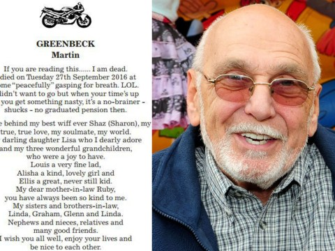 Granddad wrote his own funny obituary so he could have the last laugh