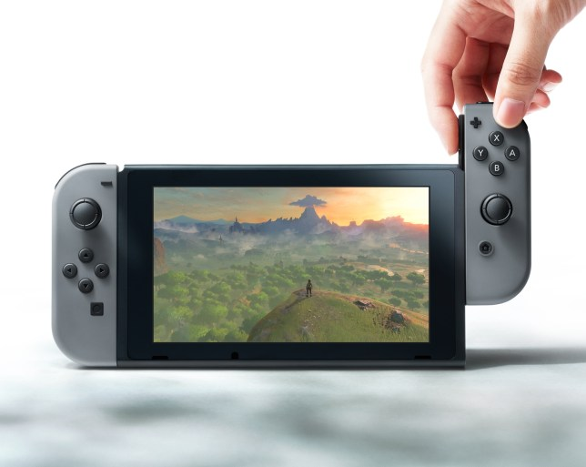 Nintendo Switch - the controllers are detachable in portable form