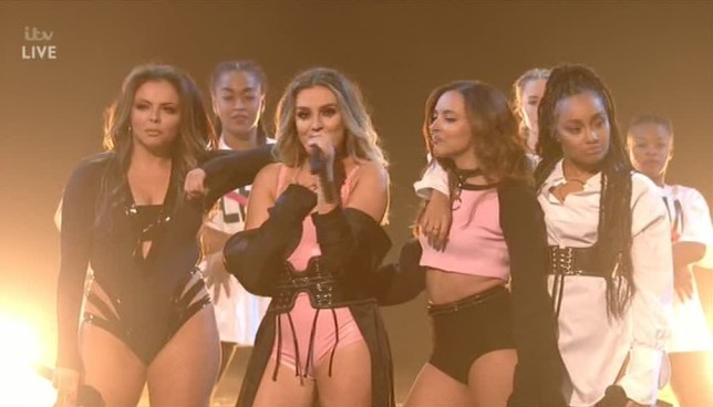 Little Mix debuted Shout Out To My Ex on The X Factor (Picture: ITV)