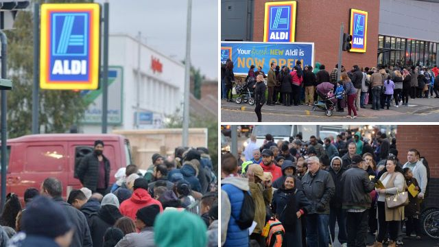 People were excited about the new Aldi opening in Leicester