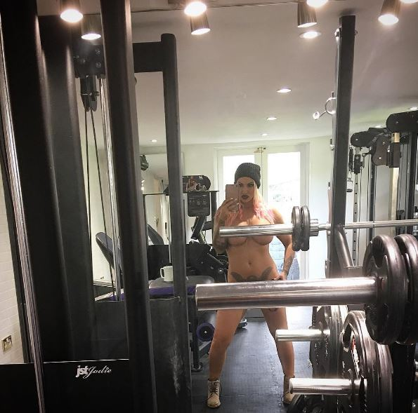 Jodie Marsh goes to the gym, forgets to bring her clothes