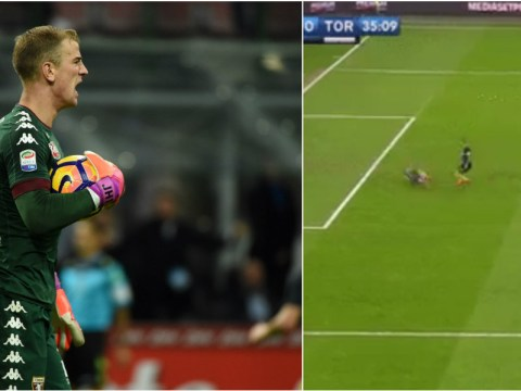 Watch: On-loan Manchester City goalkeeper Joe Hart produces massive howler in goal for Torino
