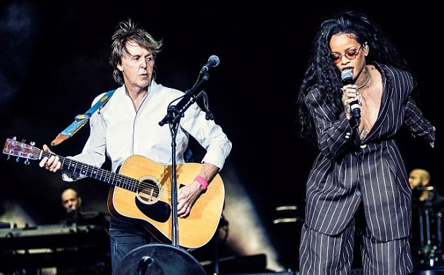 WATCH: Rihanna joins Sir Paul McCartney onstage for FourFiveSeconds duet