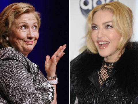 Madonna promises to give anyone who votes for Hillary Clinton 'a blow job'