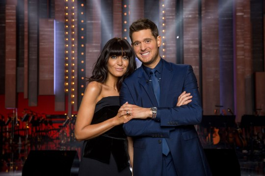 Claudia is presenting Michael Buble At The BBC (Picture: BBC)