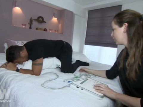 Peter Andre screams through simulated childbirth in funniest Loose Women segment yet
