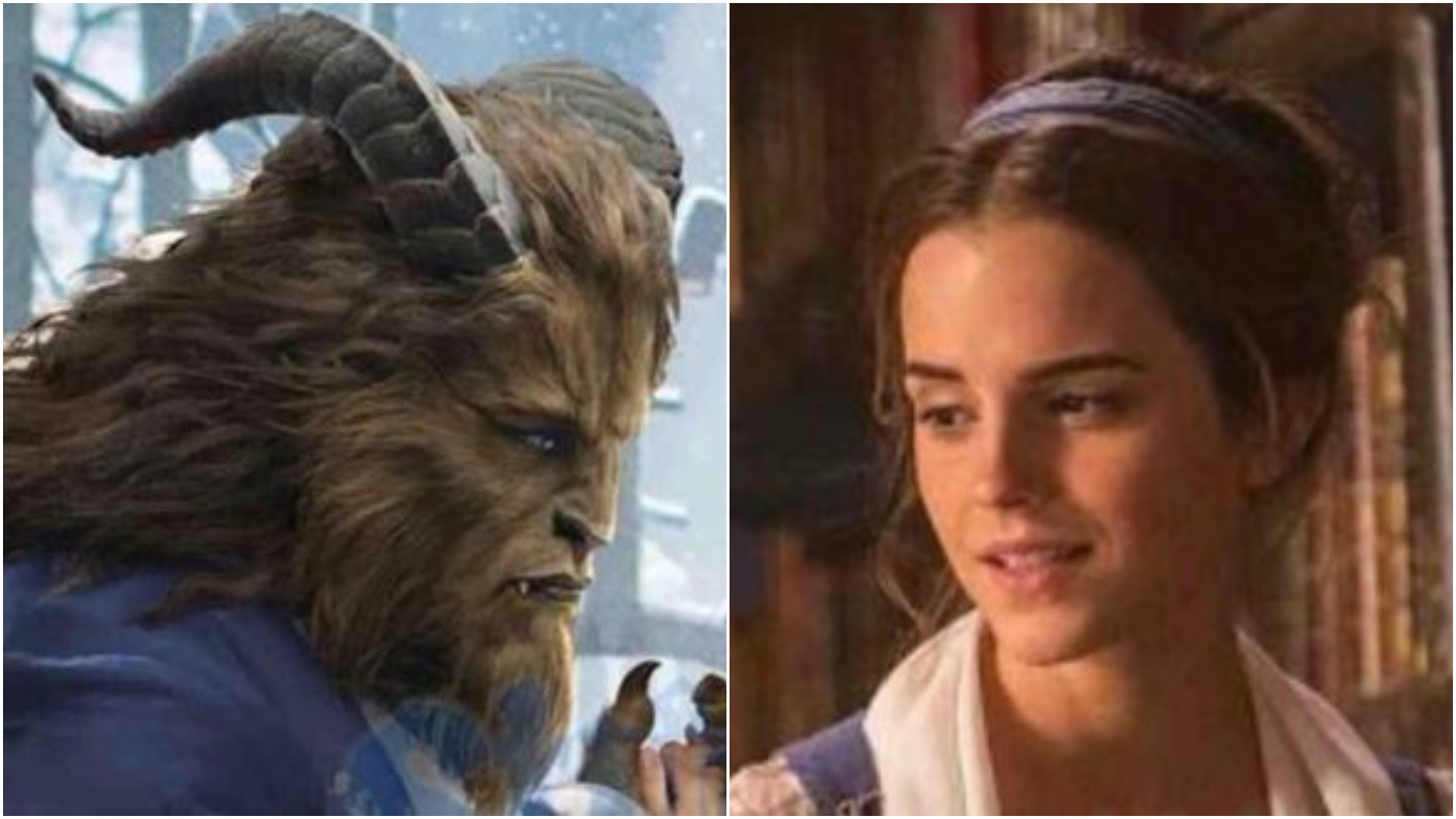 New Beauty And The Beast pics show Emma Watson dancing with her hairy friend in Belle's famous dress