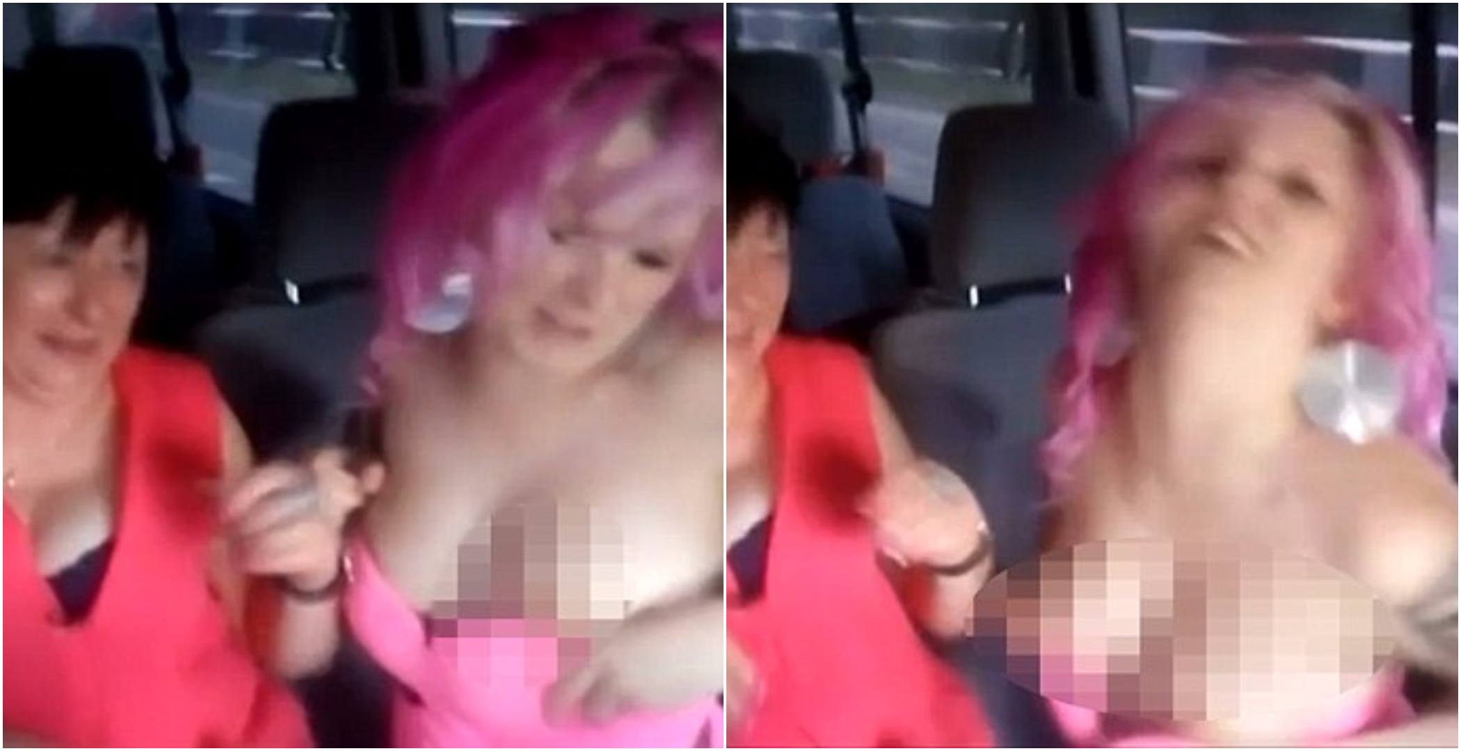 WATCH: Czech Come Dine With Me contestant flashes her boobs in wild taxi ride after dinner party