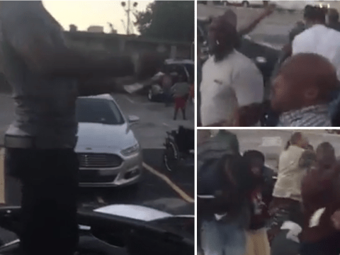 Rapper stops and throws $30,000 at homeless people in 'degrading' stunt