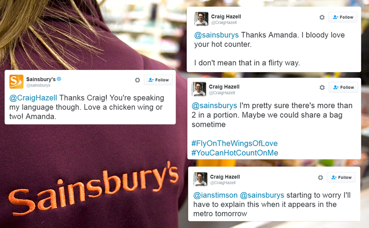 Man's exchange with Sainsbury's Twitter account turns into short-lived romance