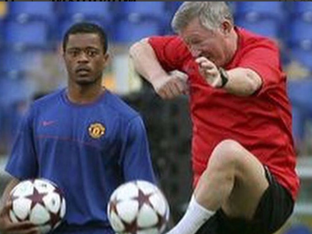 Patrice Evra posts cheeky tribute to legendary Manchester United boss Sir Alex Ferguson on Instagram