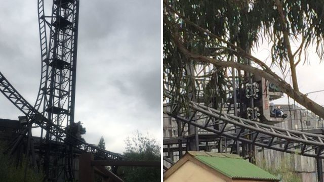 Thorpe Park Saw ride jams leaving passengers 'upside down' for over an hour