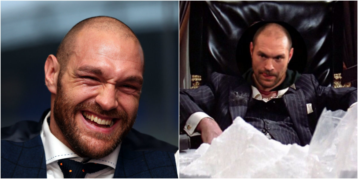 Tyson Fury mocks drug allegations by posting picture of him as Tony Montana with mountain of cocaine