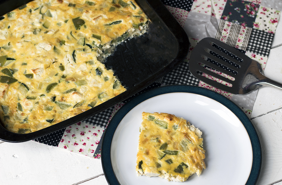 Vegetarian recipe video: How to make courgette, mint and feta frittata