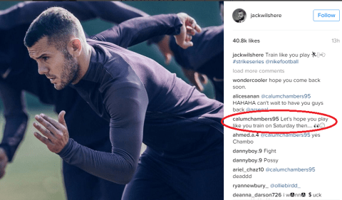 Calum Chambers trolls fellow Arsenal loanee Jack Wilshere ahead of Middlesbrough v Bournemouth
